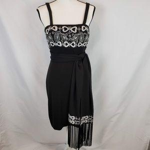 Cache Dresses - Cache Black Cocktail Dress & Scarf Style 3117